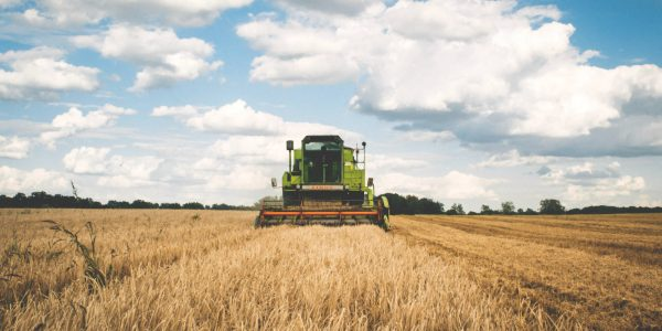 Image of farm field with equipment
